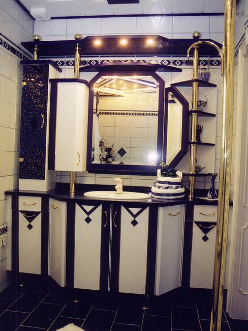 badezimmer in blau-weiß | tischlerei roman schuster gmbh, Hause ideen