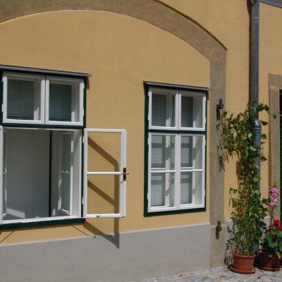 Kastenfenster grün-weiß