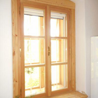 Kastenfenster Holzfensterbrett u.Holzverkleidung